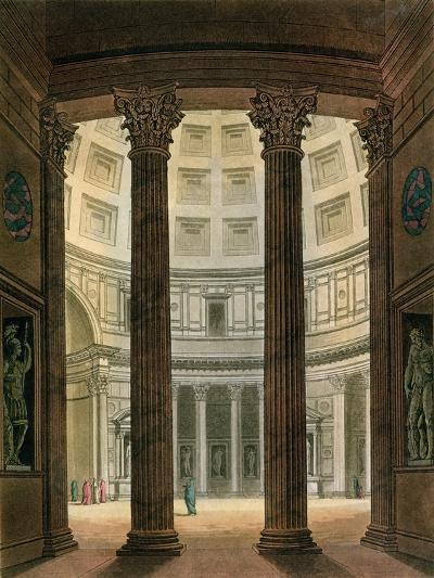 "Interior of the Pantheon, Rome, from ""Le Costume Ancien Et Moderne""- Fumagalli-Giclee Print"