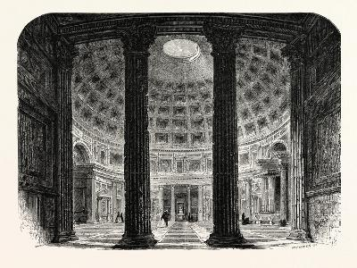 Interior of the Pantheon. Rome Italy--Giclee Print
