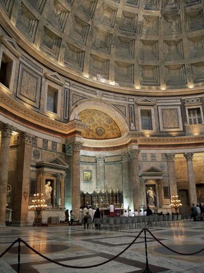 Interior of the Pantheon, Rome, Lazio, Italy-Roy Rainford-Photographic Print