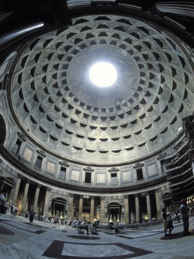 Interior of the Pantheon, the Oldest Domed Building-Richard Nowitz-Photographic Print
