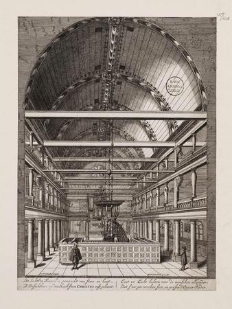 Interior of the Portuguese Synagogue in Amsterdam-Jan Veenhuysen-Giclee Print