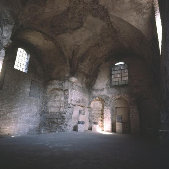Interior of the Roman Baths, incorporated in the Cluny Monastery, Paris, c20th century-Unknown-Photographic Print
