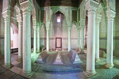 Interior of the Saadien Tombs, Marrakech, Morocco, North Africa, Africa-Matthew Williams-Ellis-Photographic Print