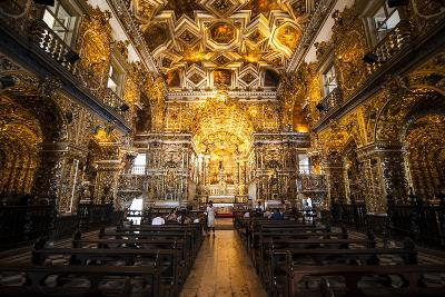 Interior of the Saint Francisco Church in the Pelourinho-Michael Runkel-Photographic Print