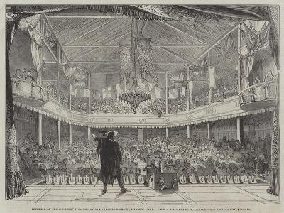 Interior of the Soldiers' Theatre at Mourmelon-Le-Grand, Chalons Camp--Giclee Print