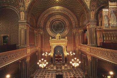 Interior of the Spanish Synagogue--Photographic Print
