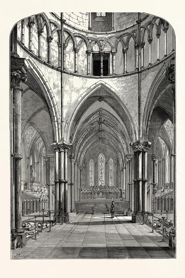 Interior of the Temple Church 1870 London--Giclee Print