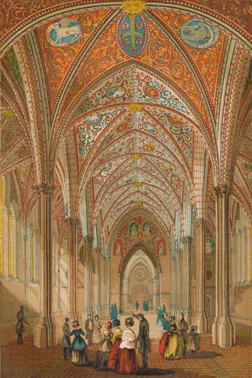 'Interior of the Temple Church', c1845, (1864)-Unknown-Giclee Print