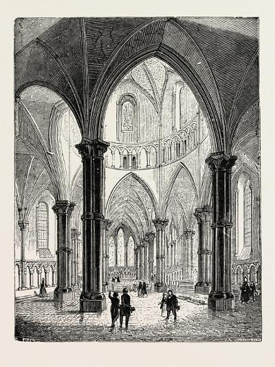 Interior of the Temple Church in London--Giclee Print