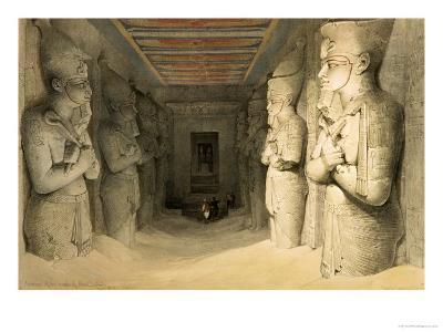 "Interior of the Temple of Abu Simbel, from ""Egypt and Nubia,"" Vol.1-David Roberts-Giclee Print"