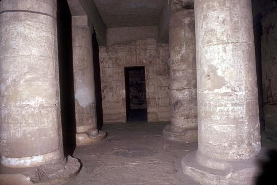 Interior of the Temple of Sethos I (Seti I), Abydos, Egypt, 19th Dynasty, c1280 BC. Artist: Unknown-Unknown-Giclee Print