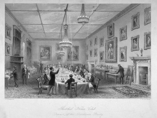 Interior of the Thatched House Tavern, St James's Street, London, C1840-John Le Keux-Giclee Print