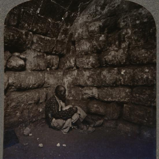 'Interior of the Tomb of Lazarus', c1900-Unknown-Photographic Print