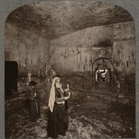 'Interior of the Tombs of the Kings on the road to Nablus', c1900-Unknown-Photographic Print