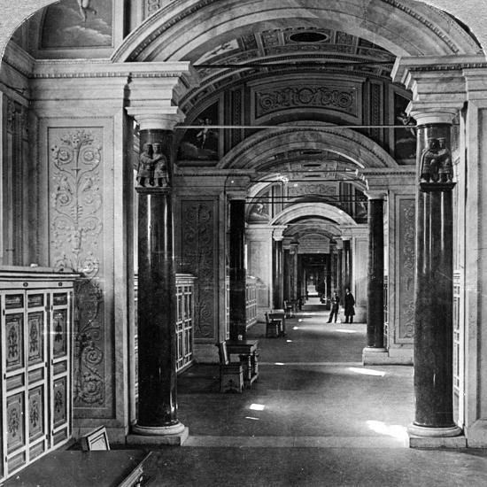 Interior of the Vatican Library, Rome, Italy-Underwood & Underwood-Photographic Print