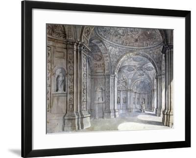 Interior of the Villa Madama in Rome, 1750-1752-Charles Louis Clerisseau-Framed Giclee Print