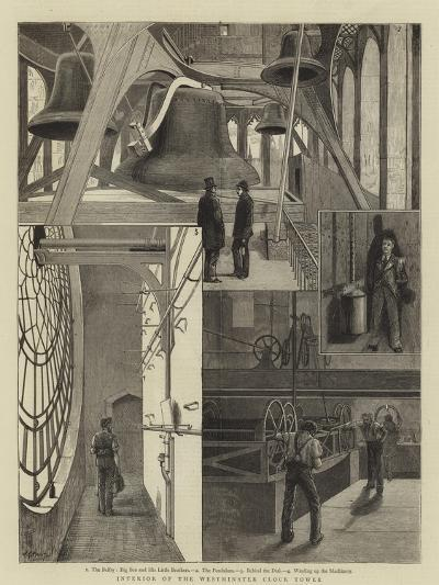 Interior of the Westminster Clock Tower--Giclee Print