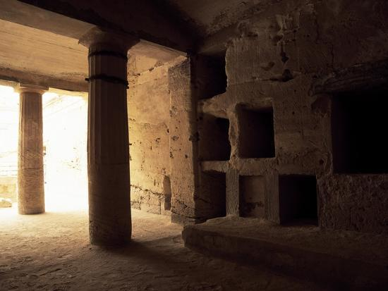 Interior of Tomb 1 with Peristyle--Giclee Print