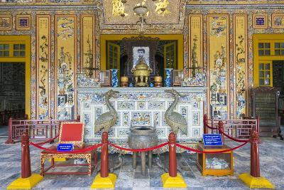 Interior of Tomb of Khai Dinh (Lang Khai Dinh), Thua Thien-Hue Province, Vietnam-Jason Langley-Photographic Print