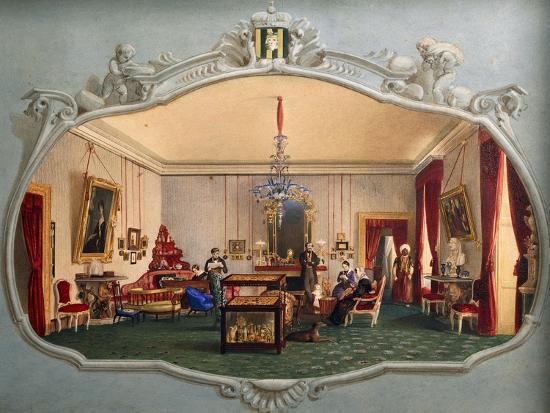 Interior of Trivulzio House--Giclee Print