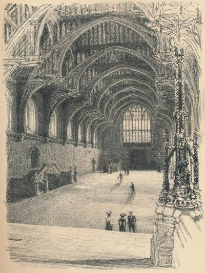 Interior of Westminster Hall, Westminster Palace, 1902-Thomas Robert Way-Giclee Print