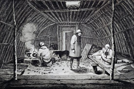 Interior of Winter House in Kamchatka--Giclee Print