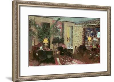 Interior Or, the Salon with Three Lamps, 1899-Edouard Vuillard-Framed Giclee Print