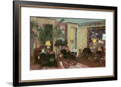 Interior Or, the Salon with Three Lamps, 1899-Edouard Vuillard-Framed Giclee Print