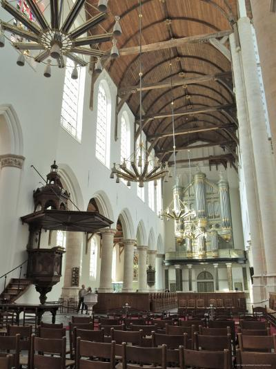 Interior, Oude Kirk (Old Church), Delft, Holland (The Netherlands)-Gary Cook-Photographic Print