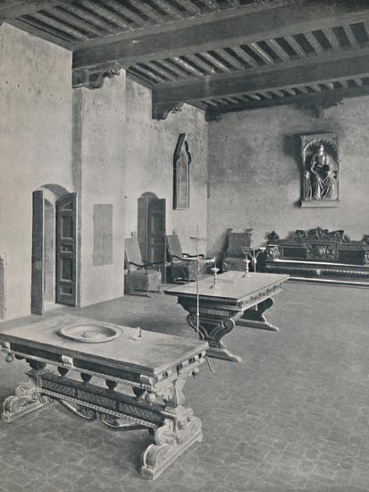 'Interior Palazzo Davanzati, Florence. With Two 16th Century Tables', 1928-Unknown-Photographic Print