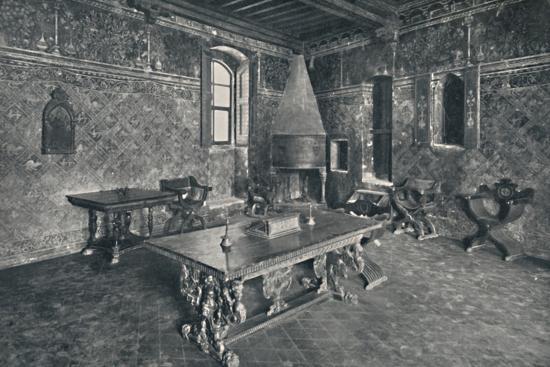 'Interior, Palazzo Davanzati - With Late 16th Century Florentine Table', 1928-Unknown-Photographic Print