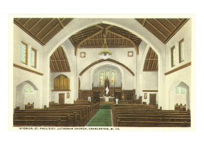 Interior, St. Paul's Church, Charleston, West Virginia--Art Print