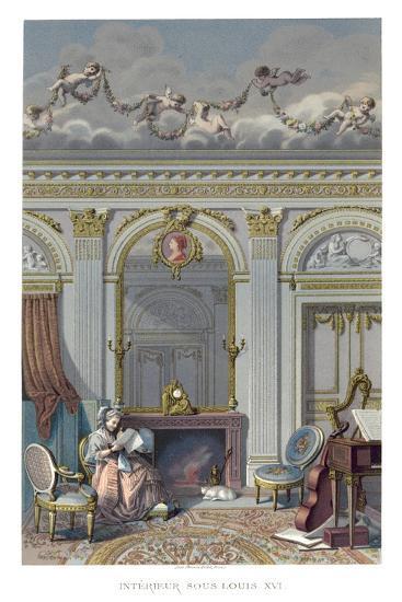 Interior under Louis XVI- Durin-Giclee Print