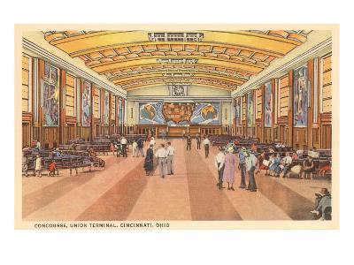 Interior, Union Terminal, Cincinnati, Ohio--Art Print
