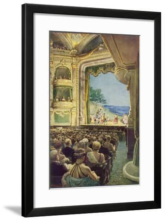 Interior View During a Performance of Gilbert and Sulivan's 'the Pirates of Penzance'--Framed Giclee Print