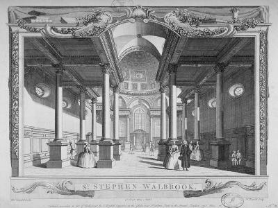 Interior View Looking East, Church of St Stephen Walbrook, City of London, 1750-John Boydell-Giclee Print