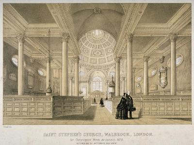 Interior View Looking East, Church of St Stephen Walbrook, City of London, 1851-J Graf-Giclee Print