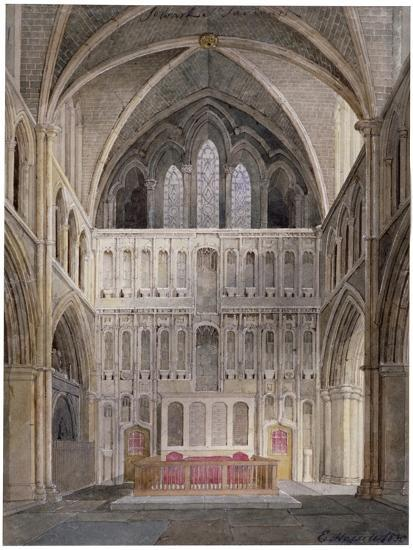 Interior View Looking Towards the Altar, St Saviour's Church, Southwark, London, 1830-Edward Hassell-Giclee Print