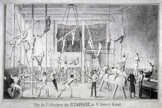 Interior View of a Gymnasium, 26 St James's Street, Westminster, London, C1830-Robert Seymour-Giclee Print