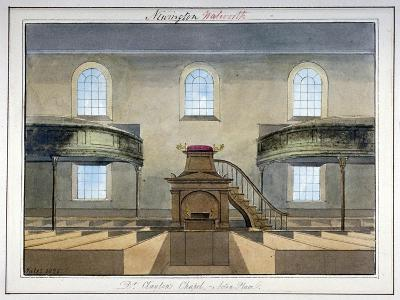 Interior View of Acton Place Chapel, Southwark, London, 1825-G Yates-Giclee Print