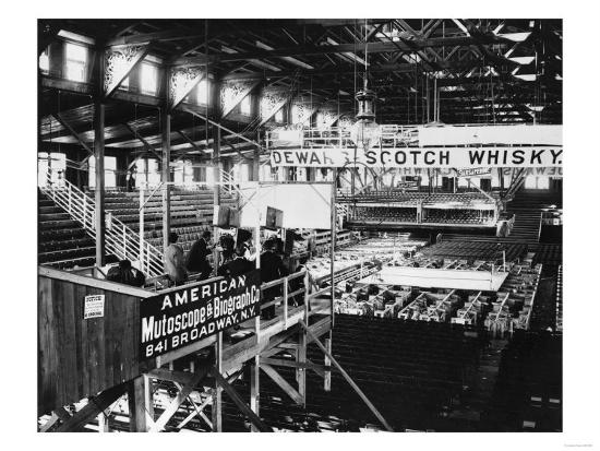 Interior View of Coney Island Boxing Club House Photograph - New York, NY-Lantern Press-Art Print