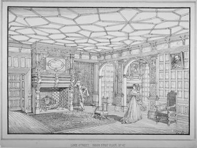 Interior View of First Floor Room of No 47 Lime Street, City of London, 1875-George H Birch-Giclee Print