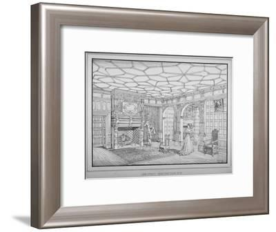 Interior View of First Floor Room of No 47 Lime Street, City of London, 1875-George H Birch-Framed Giclee Print