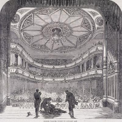 Interior View of Holborn Theatre Royal, High Holborn, Holborn, London, C1890--Giclee Print