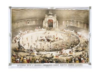Interior View of Howes and Cushing's Great United States Circus Poster--Giclee Print