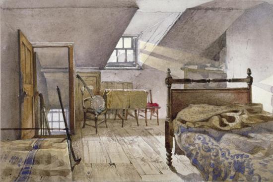 Interior View of Marshalsea Prison, Borough High Street, Southwark, London, 1887-John Crowther-Giclee Print