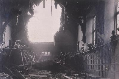 Interior View of Middle Temple Hall, City of London, after an Air Raid, C1941--Photographic Print
