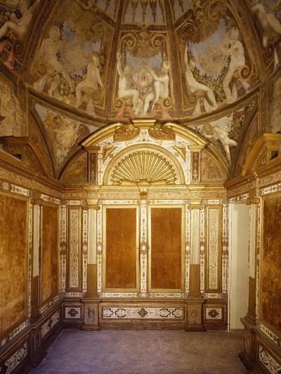 Interior View of Paleologa Room in Rocca--Giclee Print