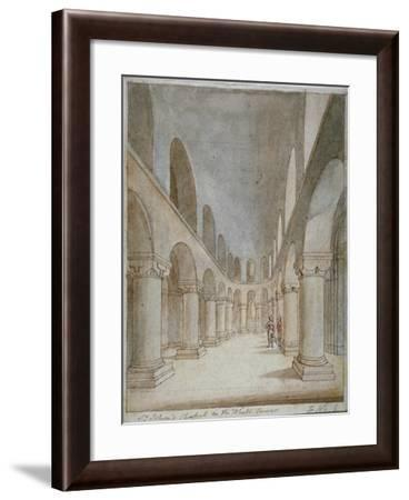 Interior View of St John's Chapel, Tower of London, C1810-Frederick Nash-Framed Giclee Print