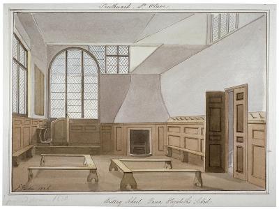 Interior View of St Olave's School on Tooley Street, Bermondsey, London, 1826-G Yates-Giclee Print